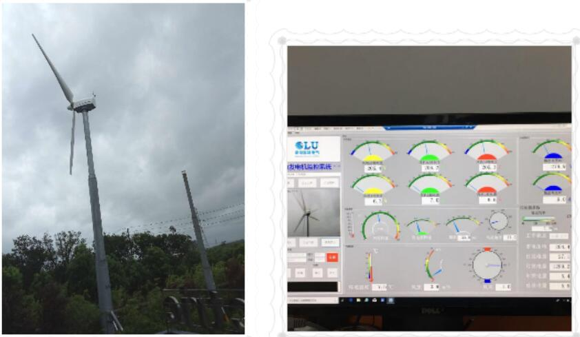 南京欧陆20KW风力发电机在台风中顺利运行